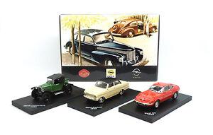 Opel-set-fascinacion-Opel-Laubfrosch-cadete-GT-Editions-Atlas-1-87