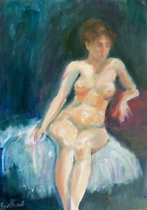 Print-of-Original-oil-painting-art-figure-Impressionism-shabby-chic-home-decor