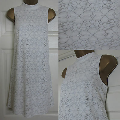 NEW EX F/&F WHITE LACE SHIFT PARTY OCCASION DRESS SIZE 6-22