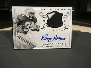 quality design 709b2 9ba9a Details about National Treasures Very Rare Autograph Jersey Seahawks Franco  Harris 3/3 2014