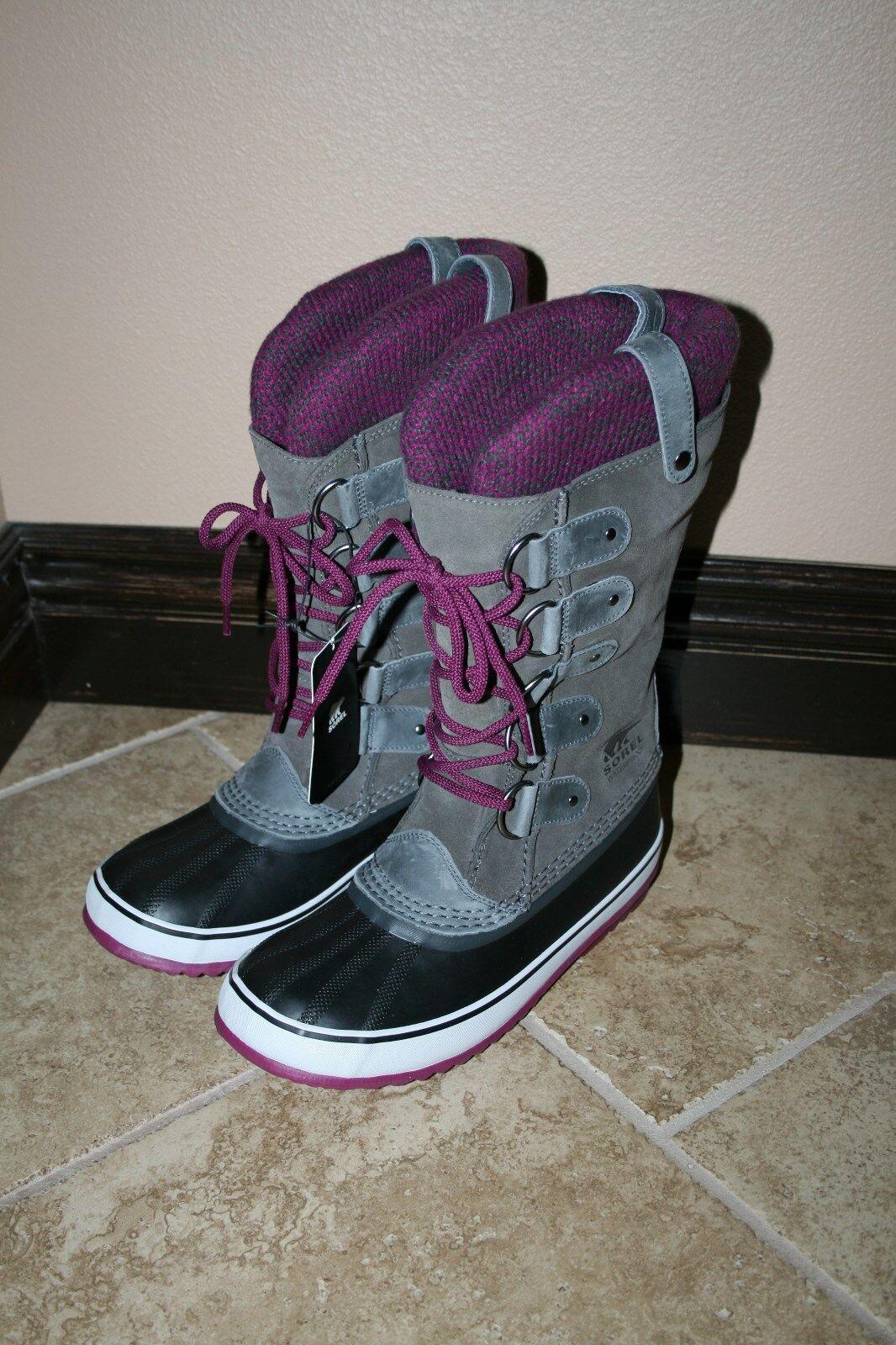 NIB New Sorel Joan of Arctic Knit Boots Shale Size 9