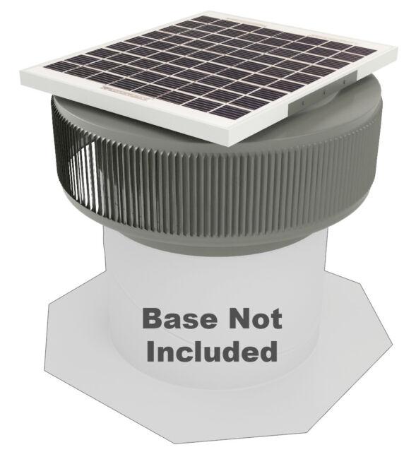 Ventilation 740cfm Weatherwood 10watt Solar Powered 12in Retrofit Attic Roof Fan for sale online