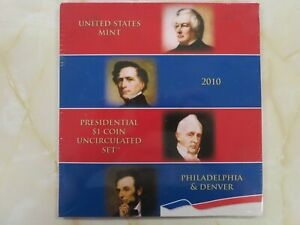 2010-Presidential-1-Coin-Uncirculated-P-and-D-set-still-Sealed-ALL-8-Dollars