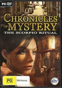 CHRONICLES-OF-MYSTERY-The-Scorpio-Ritual-PC-DVD-ROM-GAME-with-Manual