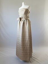 Vintage 50s Strapless Dress Ballgown Fifties 30/40s Uk 10