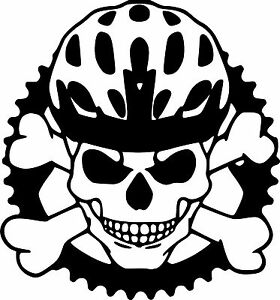 Skull Bike Helmet Sticker Decal Mountain Bike Bmx Etc