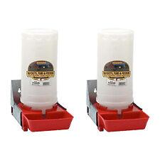 Little Giant 1 Gal Impact Translucent Polyethylene Piglet Waterer 2 Pack