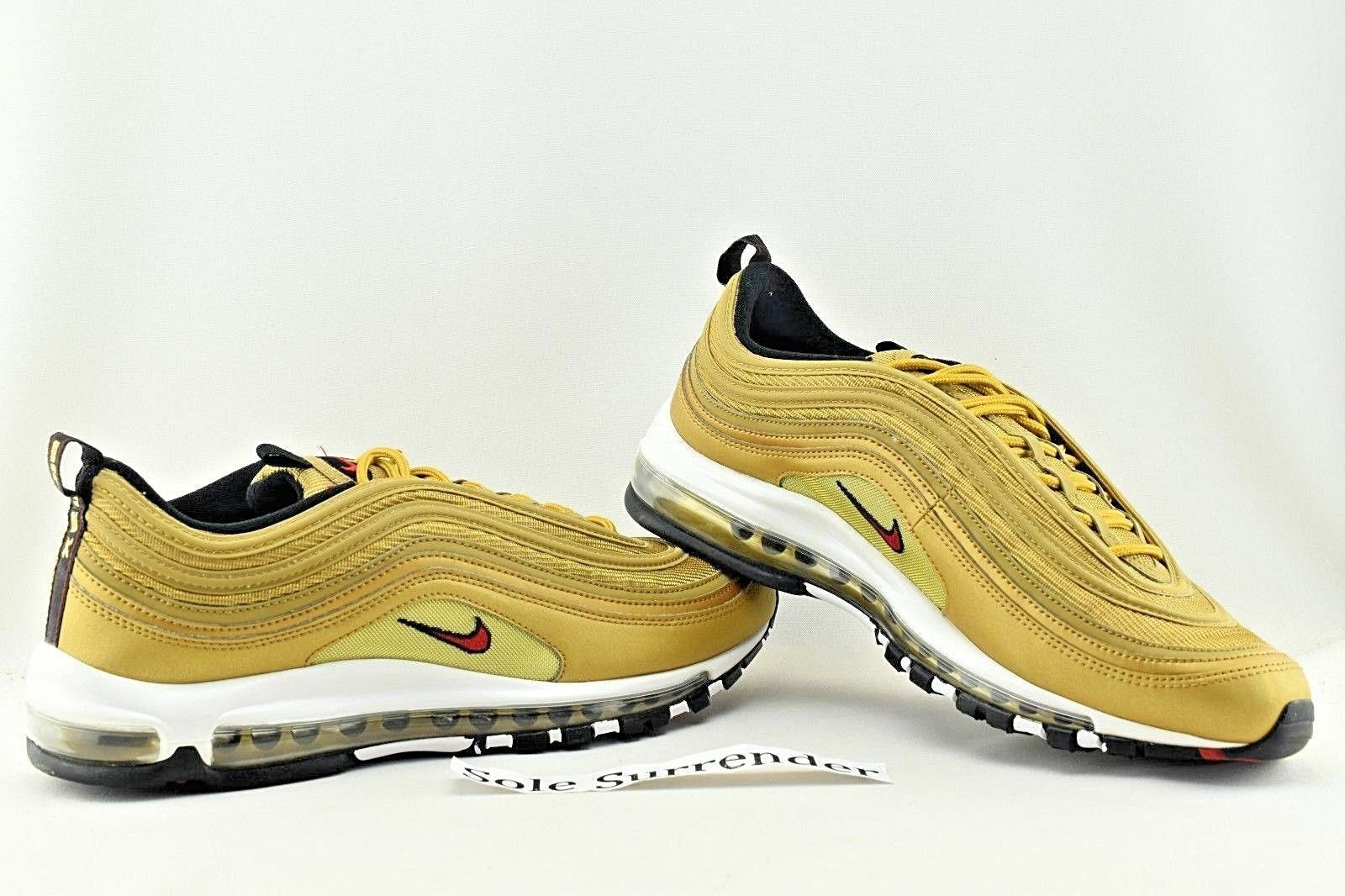 e2fa3e1e590b35 Nike Mens Air Max 97 OG QS Metallic Gold Varsity Red 884421-700 Size ...