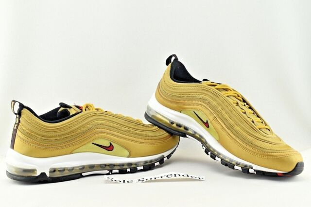the latest 2e004 c92e4 Nike Mens Air Max 97 OG QS Metallic Gold Varsity Red 884421-700 Size ...