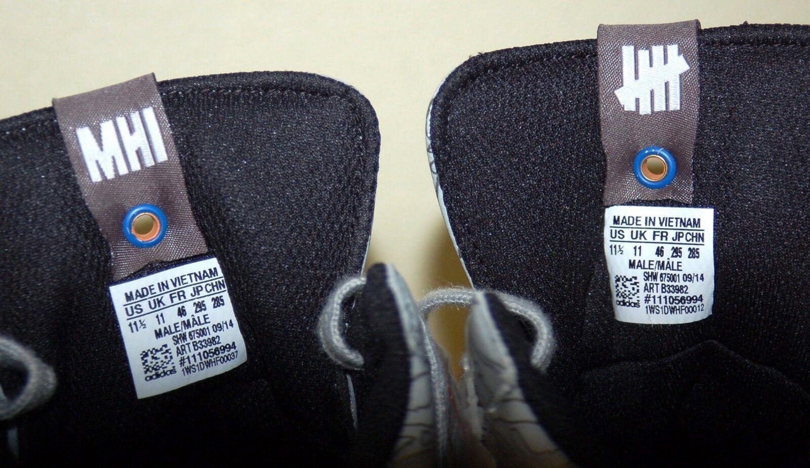Adidas X Men's Jabbar Mid Undefeated X MHI, B33982, Black/White, US Size 11.5