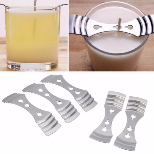 Tinksky 2pcs Metal Candle Wick Holder Clip Centering Device