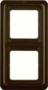 BERKER-132901-2fach-Rahmen-uP-IP44-mit-Dichtung-braun-glaenzend