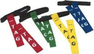 Rugby-Tag-Belt-Green-One-Size-2-Tails-NEW-Training-Game-Reaction-Aid-Play
