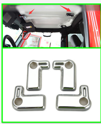 For Jeep Wrangler 2007-2015 Interior Car Top Roof Car Door Handle Cover Trim