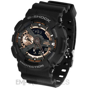 new casio g shock mens rose gold sports watch ga 110rg 1a image is loading new casio g shock mens rose gold sports