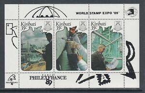 Kiribati-Sc-527-MNH-PHILEX-FRANCE-039-89-Souvenir-Sheets-Lot-of-10-VF