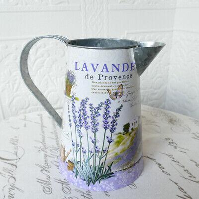 Milchkanne Lavendelmotiv Blechkanne im Landhausstil