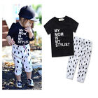 Polka Dots Newborn Baby Girls Kids T-shirt Top+Long Pants Outfit Clothes Set ui