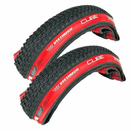 Pair of Two Vee Tire CUB 20x2.0 Red Sidewall All Season 20x2.0 Bike Tires