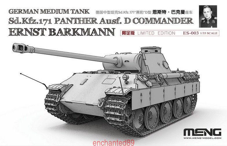 Meng 1 35 ES-003 German Sd.Kfz.171 Panther Ernst Barkmann Bausatz