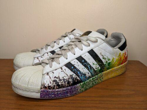 Adidas Superstar Men's 13 Pride Rainbow Shoes Pain