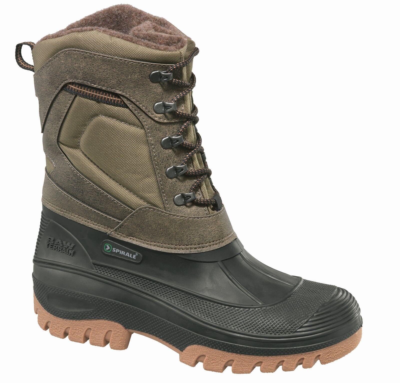ALBATROS  Yukon Spirale Boots 584010 black oliv  gefütterter Schnürstiefel