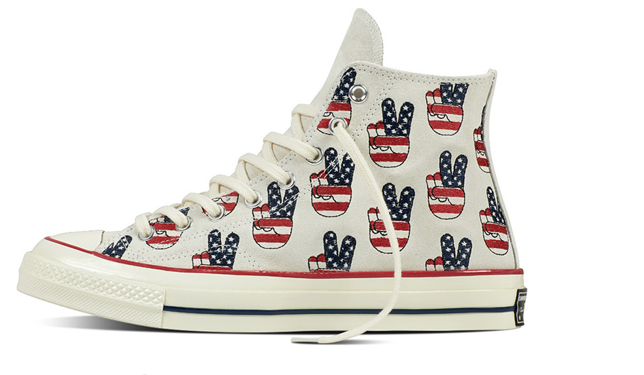 Converse Chuck Taylor All Star 70s Hi Top Election Day Peace Sign men's 9.5 New