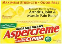 Aspercreme Odor Free Therapy Pain Relieving Creme With Aloe - 1.25 Oz