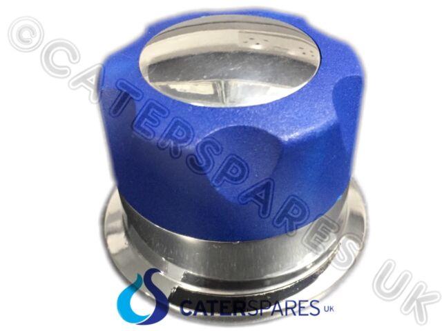 IMPERIAL GAS RANGE BURNER HOB TAP CONTROL VALVE KNOB IR-6 IR-10 BLUE / CHROME