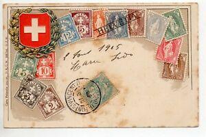 Timbres Gaufrés Sur Cartes Embossed Stamps On Card Blason Suisse Switzerland Sshfotjz-07234255-585426410