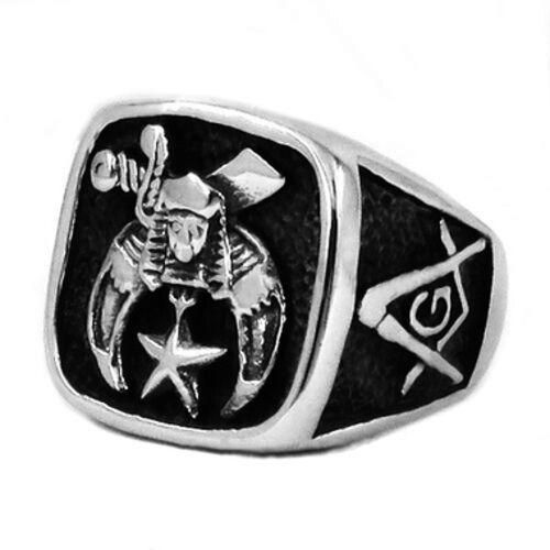 franc-maçon anneaux pour la vente Masonic Anneaux  maçonniques Shriner Carré /& Boussole