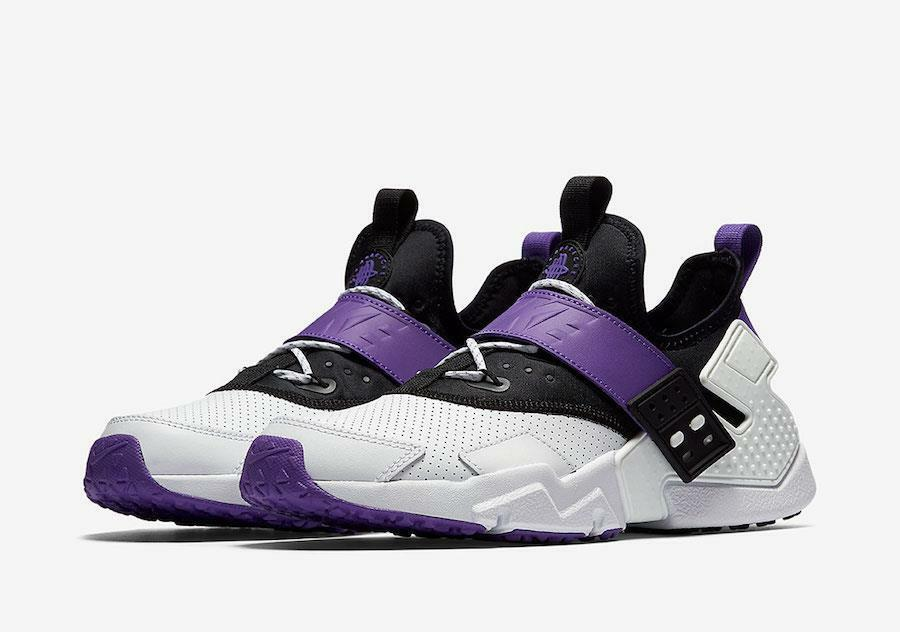 NIKE AIR HUARACHE RUN DRIFT PREMIUM AH7335 101 WHITE/HYPER GRAPE PURPLE/BLACK