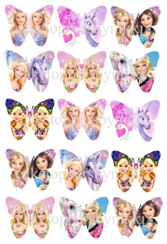 15//30 MINNIE FROZEN TINK ETC EDIBLE RICE PAPER//ICING BUTTERFLYS CUPCAKE TOPPERS