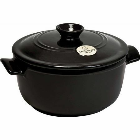 Emile Henry Ceramic Round Dutch Oven - Charcoal Charcoal Charcoal 7 Qt 334ac9