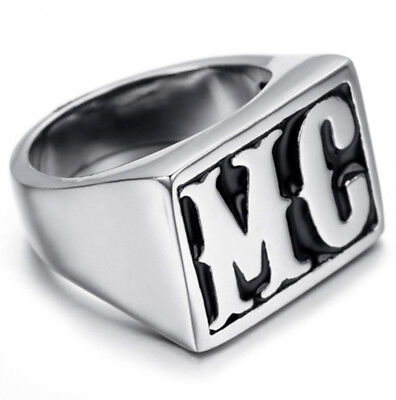 Men/'s Motorcycle Club Eagle 3D Theme Biker Harley Rider Ring US Size 8 10 12