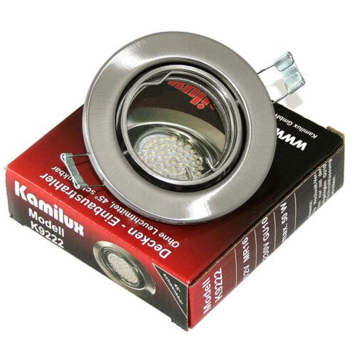 MR16 Led Leuchtmittel mit GU10 1-20er Set Einbauspot Lia ohne Halogen