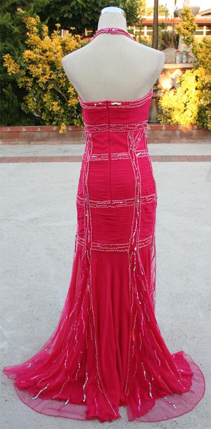 NWT LARA Design Design Design  480 Fuchsia Evemomg Prom Ball Gown 4 e71f35