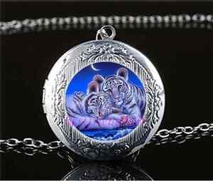 Beagle Dog Photo Cabochon Glass Tibet Silver Chain Locket Pendant Necklace