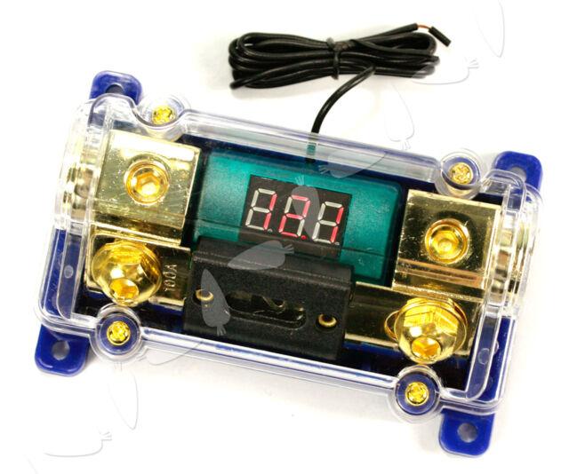 Car Motor Digital LED Voltage Display Audio Amplifier ANL Gold Fuse Holder