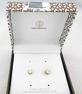 e54568902 GIANI BERNINI Cubic Zirconia Stud Earrings Msrp $85.00 *NEW WITH TAG ...