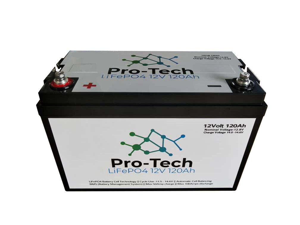 12V 120Ah Pro-Tech Lithium LiFePo4 Battery CARAVAN & 4WD