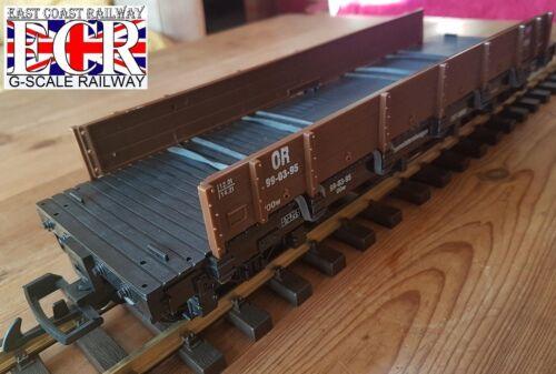 LGB G SCALE FLATBED 1:24 DIE-CAST LAND ROVER 2 RAILWAY 45mm GAUGE TRAIN COMPAT