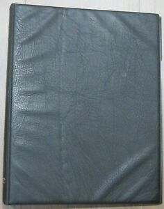 PRINZ-BLACK-LEATHER-PADDED-4-RING-ALBUM-WITH-16-EMPTY-PAGES-PRE-OWNED
