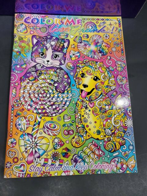 Lisa Frank Color Me Adult Coloring Book- Puppy Cat Kitten For Sale Online