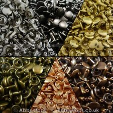 Double Cap Rivets 6x5 7x7 9x8 & 9x12 Stud Rapid Rivets Leather Craft Repair
