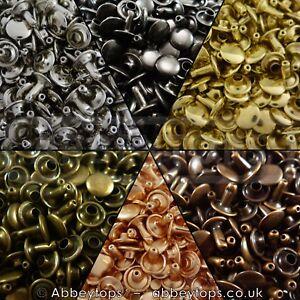 Double-Cap-Rivets-6x5-7x7-9x8-amp-9x12-Stud-Rapid-Rivets-Leather-Craft-Repair