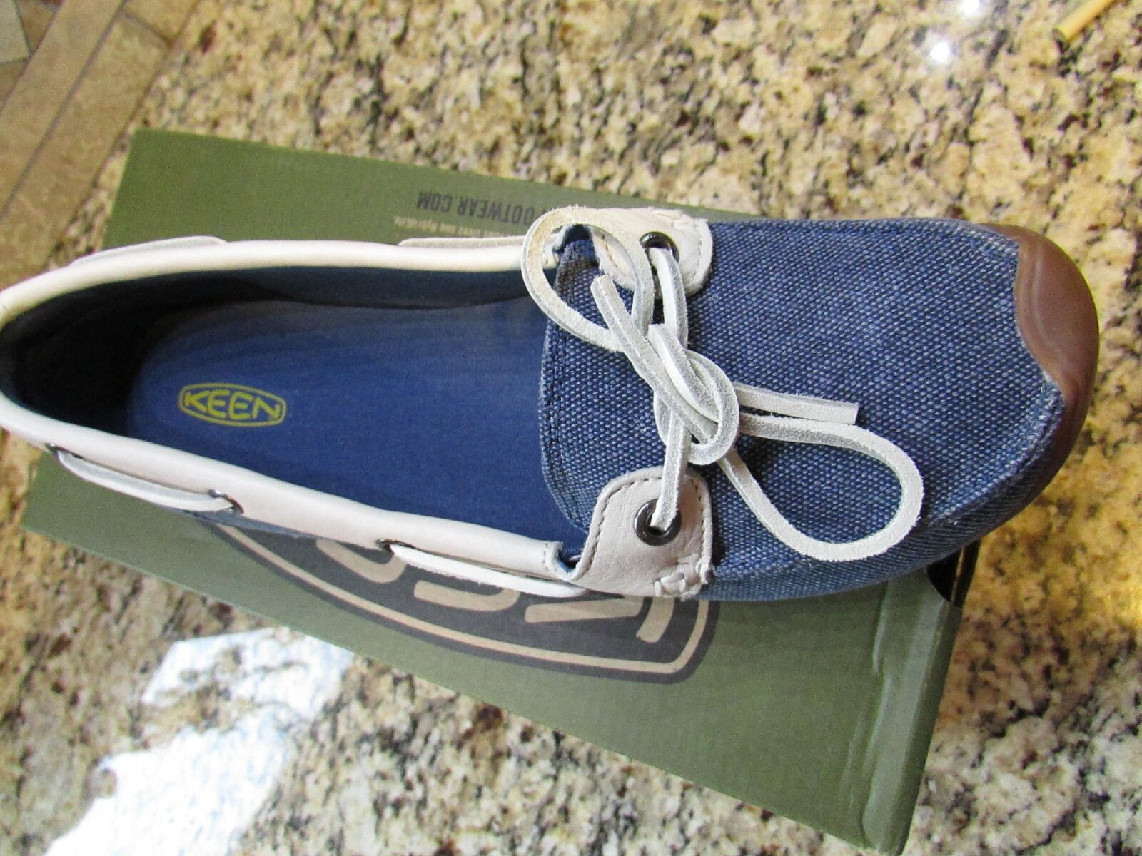 NEW KEEN CATALINA CANVAS BOAT SHOES WOMENS 10.5 ENSIGN blueE FREE SHIP
