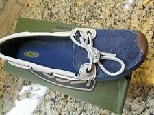 NEW KEEN CATALINA CANVAS BOAT SHOES WOMENS 10 ENSIGN BLUE FREE SHIP