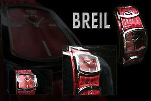 BREIL-Damenuhr-in-rot-ausgefallenes-Design-rotes-durchgehendes-Lederband