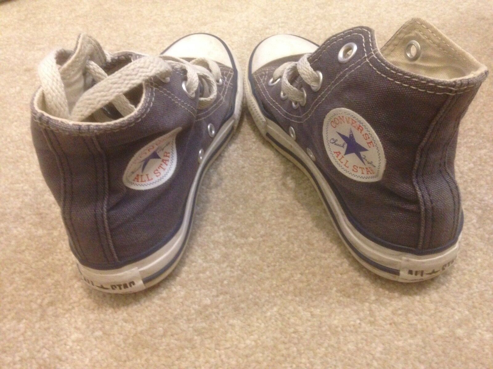 Filles Bleu/Gris Converse All Star High Taille Tops Cheville Taille High UK 1.5 9fb3f9